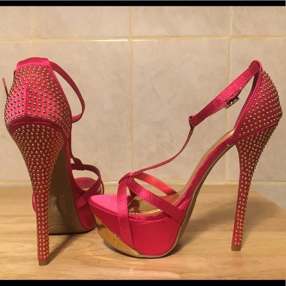 bfa603fc923 Shoedazzle hot pink platform stilettos